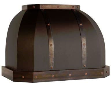 Vent-A-Hood Designer Series JCH348C1PTAS - JCHC1PTAS Magic Lung Designer Series Wall Mount Hood with Oil Rubbed Bronze Finish and Antiqued Copper Trim