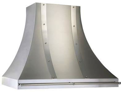 Vent-A-Hood Designer Series JDH236C2SSAS - JDHC2SSAS Magic Lung Designer Series Wall Mount Hood with Stainless Steel Finish, Mirrored Stainless Trim and Chrome Pot Rail