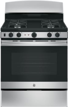 "GE JGB450X - 30"" Freestanding Gas Range in Stainless Steel with 5.0 cu. ft. Oven"