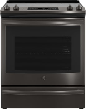 GE JS760BLTS - Black Stainless Steel Front View