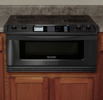 Sharp Insight Pro Series Kb5121kk 30 Inch Electric Cooktop And Microwave Drawer