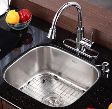 Kraus Kitchen Combo Series KBU11KPF2220KSD30CH - Kitchen Sink and Faucet Combo