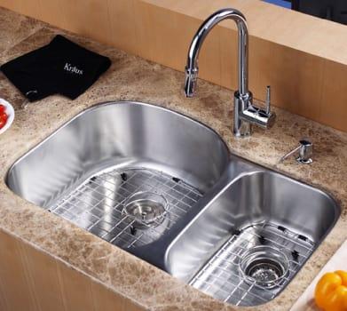 "Kraus Kitchen Combo Series KBU23KPF1622KSD30CH - 32"" Undermount Stainless Steel Sink"