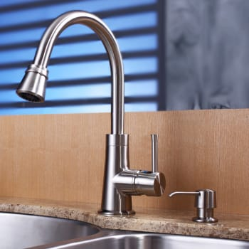 Kraus Kitchen Combo Series KBU23KPF2220KSD30SN - Satin Nickel Faucet