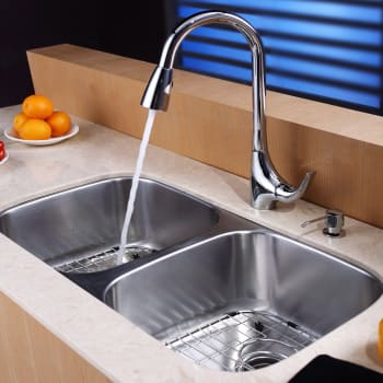 Kraus Kitchen Combo Series KBU22KPF1621KSD30CH - Lifestyle View