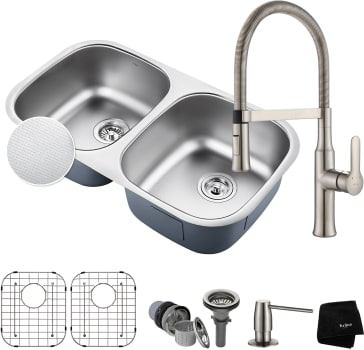 Kraus Outlast Series KBU22E164042SS - Stainless Steel Set View