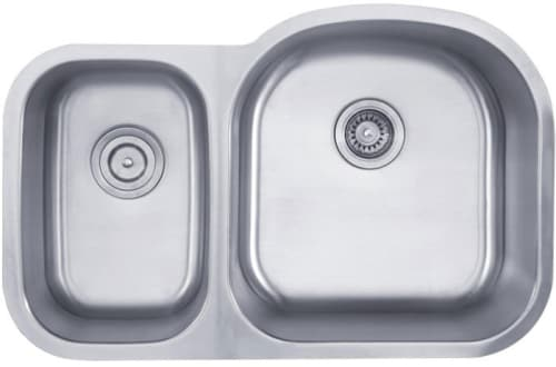 "Kraus KBU25 - 32"" Stainless Steel Double Bowl Sink"