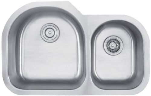 "Kraus KBU26 - 32"" Stainless Steel Double Bowl Sink"