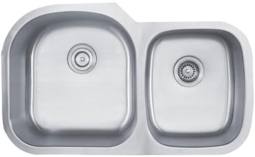 """Kraus Kitchen Sink Series KBU27 - 35"""" Undermount Double Bowl Sink"""