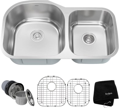 Kraus Kitchen Sink Series KBU27 - Set View