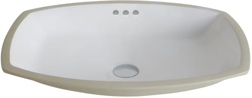 "Kraus KCU261 - 17.32"" Undermount Single Rectangular Bowl"