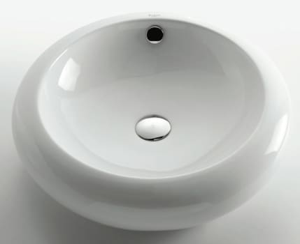 Kraus Ceramic Series KCV105 - Kraus White Round Ceramic Sink