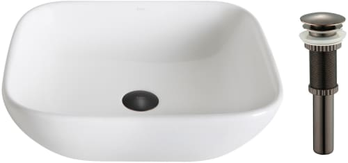 "Kraus Elavo Series KCV127ORB - 16.14"" Single Bowl Ceramic Vessel Sink with 5.51"" Depth"