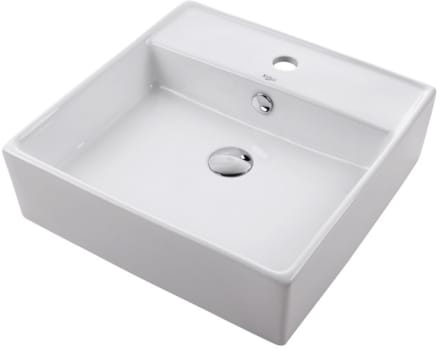 "Kraus Ceramic Series KCV150CH - 18 3/5"" White Square Ceramic Sink"