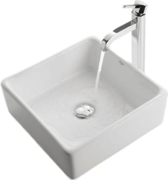 Kraus White Ceramic Series KCV120 - Top View - Faucet Not Included