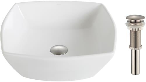 "Kraus Elavo Series KCV126BN - 16.5"" Top Mount Single Bowl Vessel Sink with 5.5"" Depth"