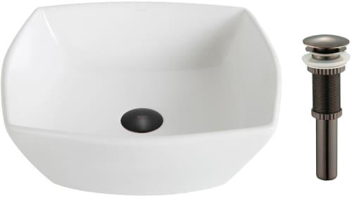 "Kraus Elavo Series KCV126ORB - 16.5"" Top Mount Single Bowl Vessel Sink with 5.5"" Depth"