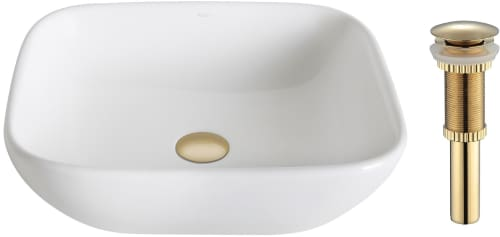 "Kraus Elavo Series KCV127G - 16.14"" Single Bowl Ceramic Vessel Sink with 5.51"" Depth"