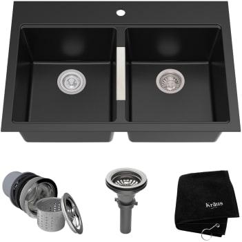 Kraus Kitchen Sink Series KGD433B - Top View