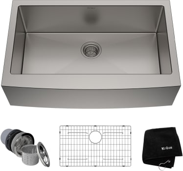 Kraus Standart Pro Series Khf20033 33 Inch Farmhouse Single Bowl Stainless Steel Kitchen Sink