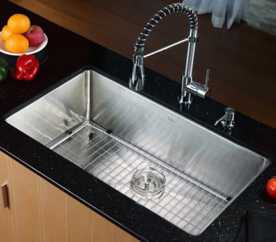 Kraus Kitchen Combo Series KHU10032KPF1612KSD30CH - Kitchen Sink and Faucet Combo