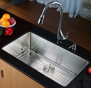 Kraus Kitchen Combo Series KHU10032KPF1621KSD30CH - Kitchen Sink and Faucet Combo