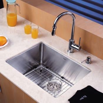 "Kraus Kitchen Combo Series KHU10123KPF1622KSD30CH - 23"" Stainlesss Steel Sink"