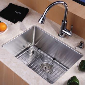 "Kraus Kitchen Combo Series KHU10123KPF2220KSD30ORB - 23"" Stainlesss Steel Sink"
