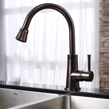 Kraus Kitchen Combo Series KHU10233KPF2220KSD30ORB - Oil Rubbed Bronze Faucet