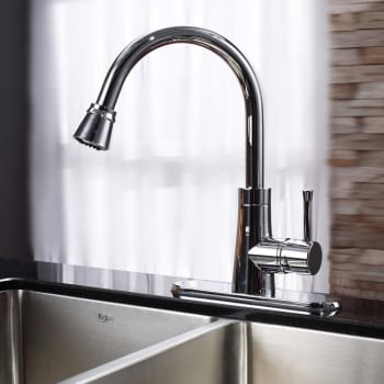 Kraus Kitchen Combo Series KHU10233KPF2220KSD30CH - Chrome Faucet