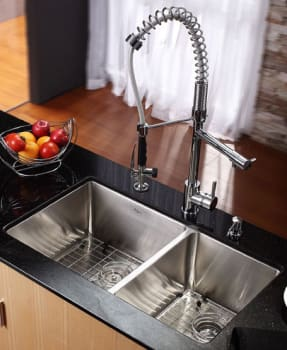 Kraus Kitchen Combo Series KHU10333KPF1602KSD30CH - Kitchen Sink and Faucet Combo