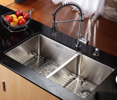 Kraus Kitchen Combo Series KHU10333KPF1612KSD30CH - Kitchen Sink and Faucet Combo