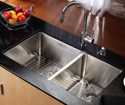 Kraus Kitchen Combo Series KHU10333KPF1622KSD30CH - Kitchen Sink and Faucet Combo