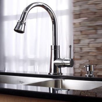 Kraus Kitchen Combo Series KHU10333KPF2220KSD30CH - Chrome Faucet