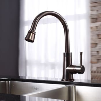 Kraus Kitchen Combo Series KHU10333KPF2220KSD30ORB - Oil Rubbed Bronze Faucet