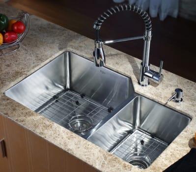 Kraus Kitchen Combo Series KHU12332KPF1612KSD30CH - Kitchen Sink and Faucet Combo