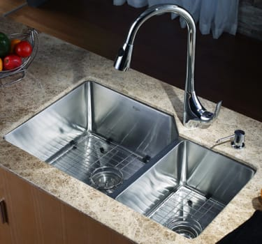 Kraus Kitchen Combo Series KHU12332KPF1621KSD30CH - Kitchen Sink and Faucet Combo