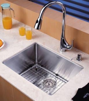 "Kraus Kitchen Combo Series KHU10123KPF1621KSD30CH - 23"" Stainlesss Steel Sink"