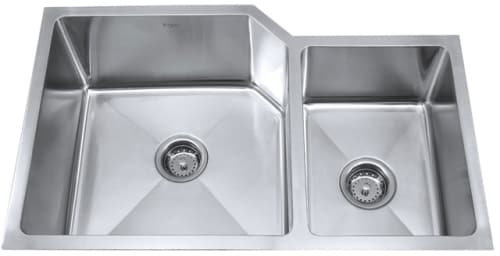 Kraus Kitchen Combo Series KHU12332KPF2110SD20 - Stainless Steel Double Bowl Sink
