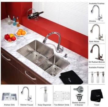 Kraus Kitchen Combo Series KHU12332KPF2230KSD30 - Front View