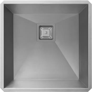 "Kraus Pax Series KHU19 - 18 1/2"" Pax Zero Radius Handmade Undermount Single Bowl Bar/Prep Sink in 18 Gauge Stainless Steel"