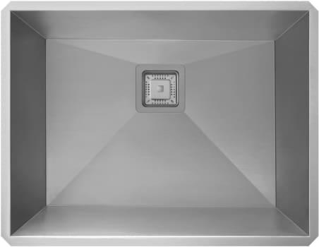 """Kraus Pax Series KHU24L - 24"""" Pax Zero Radius Handmade Undermount Single Bowl Kitchen Sink in 18 Gauge Stainless Steel"""