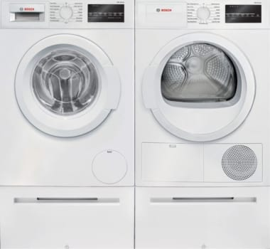 Bosch Bowadrew2 Side By Side On Pedestals Washer Dryer Set With