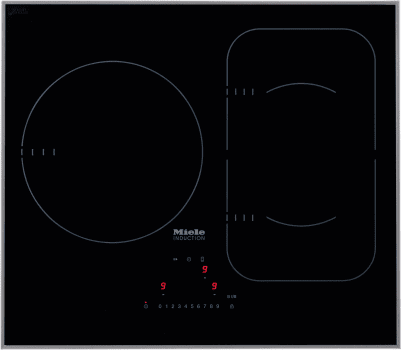 "Miele KM6320 - 24"" Induction Cooktop with 3 Cooking Zones"