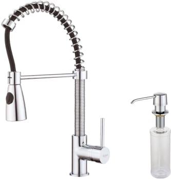 Kraus Kitchen Faucet Series KPF1612KSD30CH - Faucet and Soap Dispenser