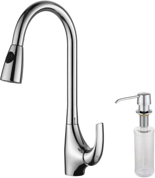 Kraus Kitchen Faucet Series KPF1621KSD30CH - Faucet and Soap Dispenser