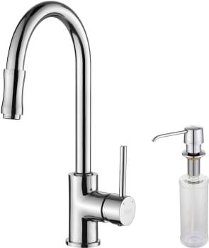Kraus Kitchen Faucet Series KPF1622KSD30CH - Chrome Faucet and Soap Dispenser