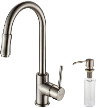 Kraus Kitchen Faucet Series KPF1622KSD30SN - Satin Nickel Faucet and Soap Dispenser