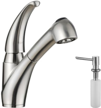 Kraus Kitchen Faucet Series KPF2110SD20 - Faucet and Soap Dispenser