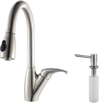 Kraus Kitchen Faucet Series KPF2120SD20 - Faucet and Soap Dispenser